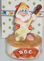 Disney Snow White Music Box Doc Dwarfs Schmid Heigh Ho Sir Lanka Playing Cello - $99.95