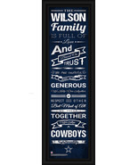 Dallas Cowboys Personalized Framed Family Cheer 8x24 Print - $39.95