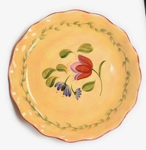 """Pfaltzgraff Napoli Hand Painted Oversized Serving Bowl 15"""" x 2"""" Floral Scalloped - $49.49"""