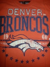 New Denver Broncos Distressed  Big Time  T Shirt Viintage Shirt Nfl Team Apparel - $34.99