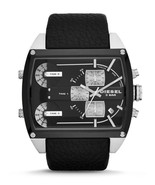 BRAND NEW DIESEL DZ7326 MOTHERSHIP BLACK LEATHER STRAP CHRONOGRAPH MEN'S WATCH - £121.46 GBP