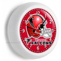 Atlanta Falcons Football Team Wall Clock Man Cave Boy Room Tv Bedroom Home Decor - $21.05