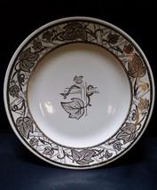 Vintage Royal China Plate Saucer Serving Dinnerware Dish Gold Golden Tre... - $16.97