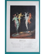 NUDE Muses of Art Artist Palette Rainbow Colors - VICTORIAN Era Color Print - $16.20