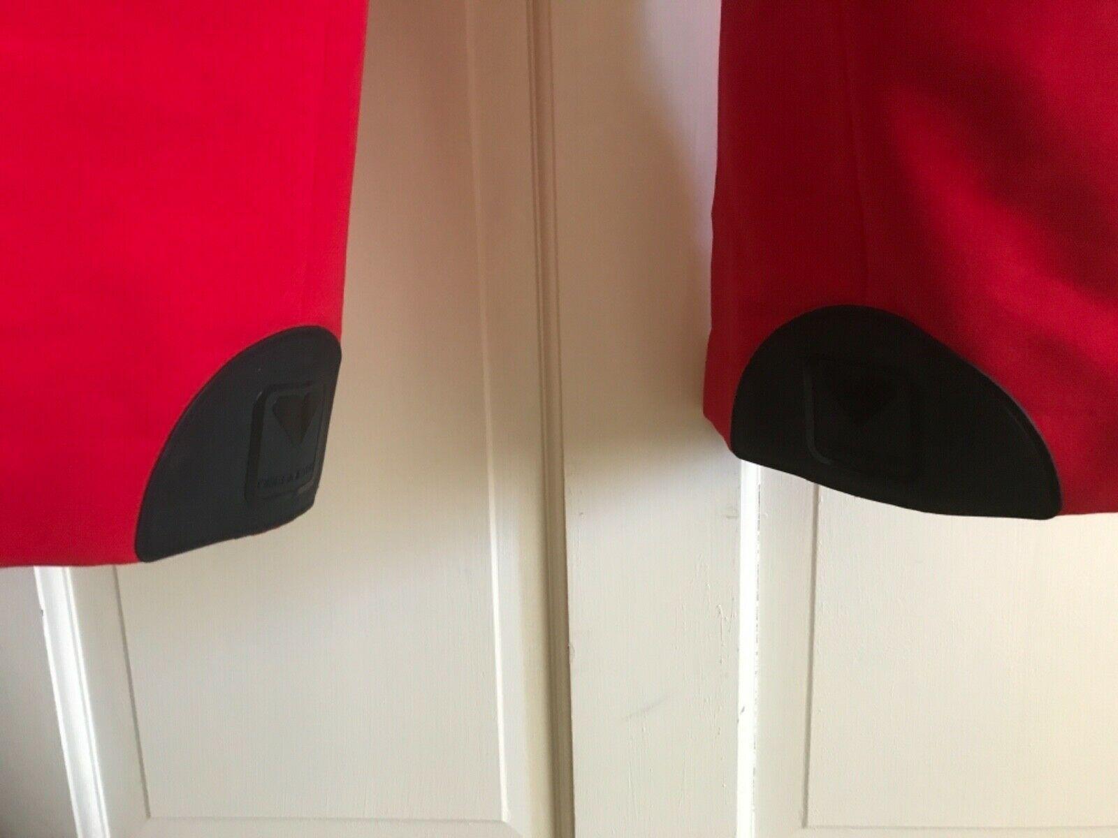 WOMENS Vtg OBERMEYER Red Wool Nylon Stretch Ski Bibs Pants Japan LK NW! EEUC XS image 5
