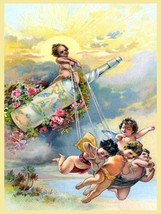 Vintage Soft Drink Ad Advertising Babies Children Poster Print on Canvas 24x32 - $222.75