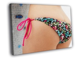 Close Up Sexy Butt Hot Panties 30x20 Framed Canvas Print - $19.95