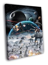 Star Wars Hoth Epic Battle At-At Art 30x20 Framed Canvas Print - $19.95