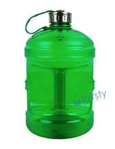 Green BPA FREE 1 Gallon Water Bottle Steel Cap Jug Container Canteen Reu... - $248,14 MXN