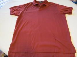 Polo by Ralph Lauren Men's short sleeve polo shirt XL lt burgandy cotton... - $25.73