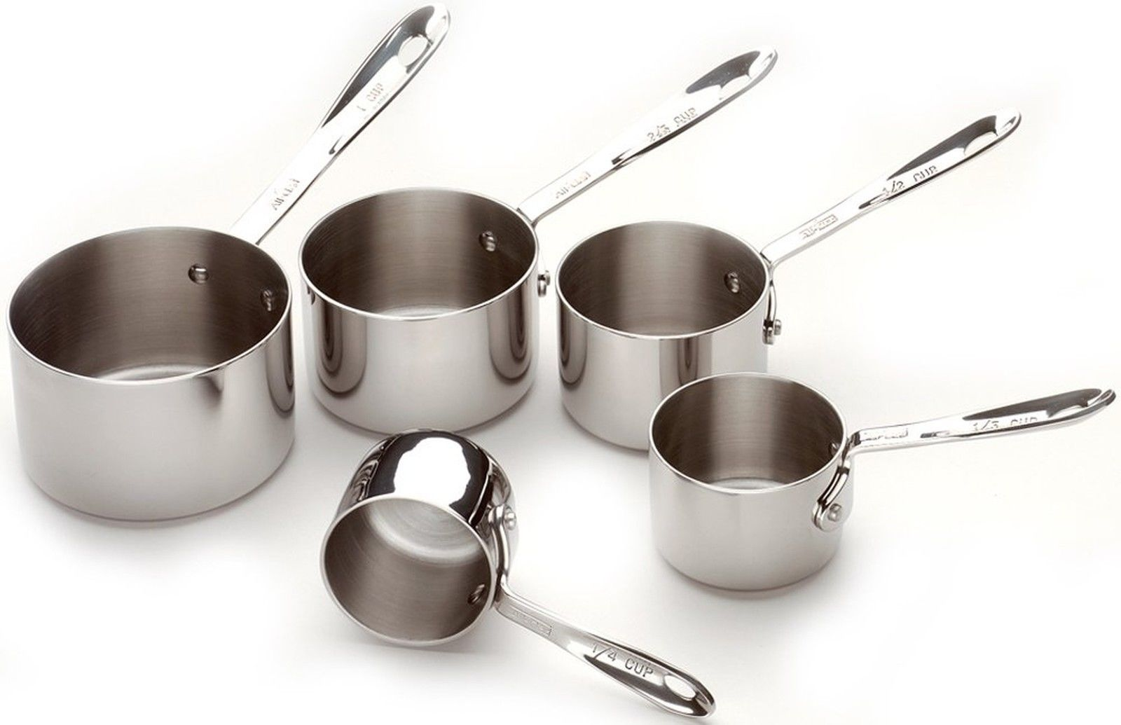 All-Clad 59917 Stainless Steel Measuring Cups Cookware Set... Free Shipping, New