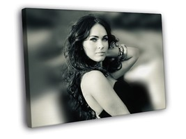 Megan Fox Hot BW Babe Focus 12x8 Framed Canvas Print - $14.96
