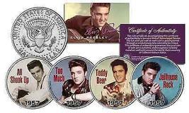 ELVIS PRESLEY 1957 #1 SONG HITS Licensed JFK Kennedy Half Dollars 4-Coin... - $23.95