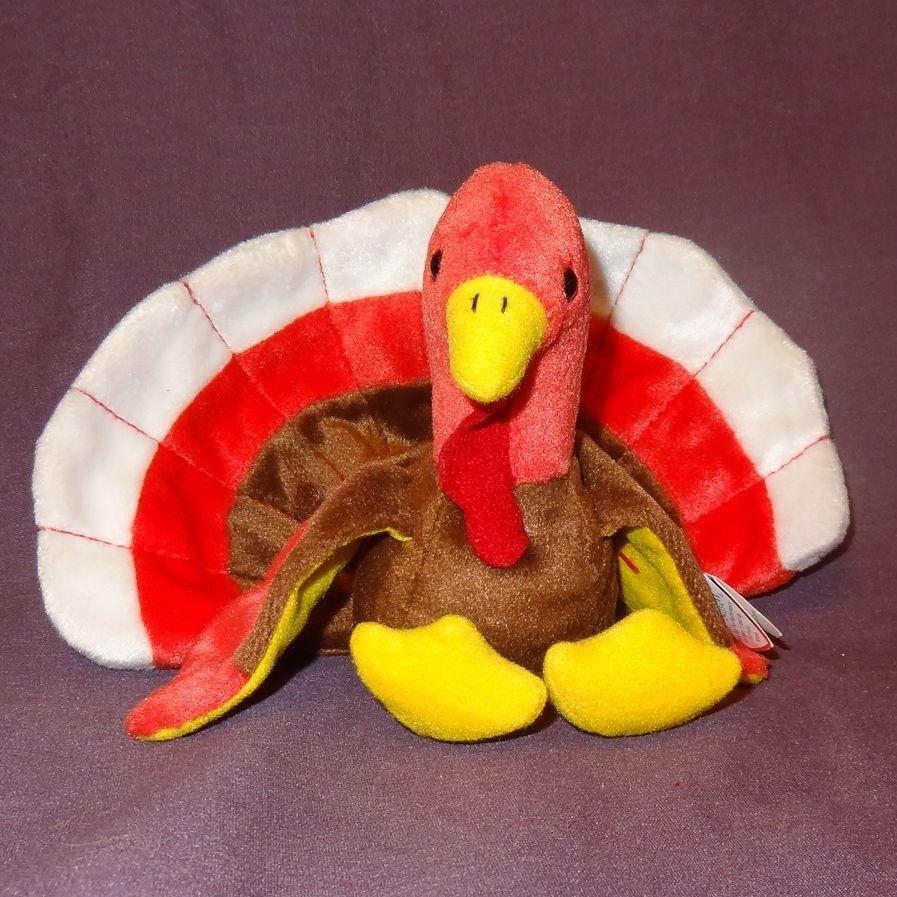Gobbles Turkey Retired Ty Beanie Baby Rare Mistakes  Swing Tag U.K. ! 1996 1997
