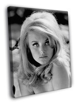 Barbara Bouchet Casino Royale B&W Vintage Actress 40x30 FRAMED CANVAS - $29.95