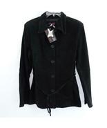 Hypo Active Black Suede 3/4 Length Suede Womens Jacket Sz S New - $38.69