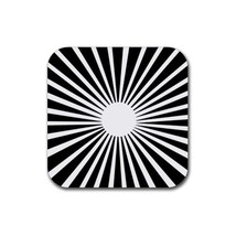 Beautiful Black And White Stripes Texture (Square) Rubber Coaster - $2.99