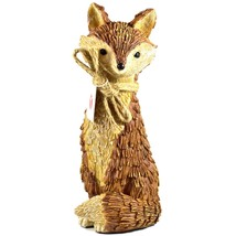 """Delton Products Rustic Natural Tan Brown Seated Sitting Fox 10"""" Resin Figurine - $383,64 MXN"""