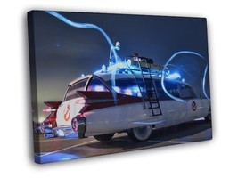 Vintage Police Car Cadillac Light Rays Ways Beams 40x30 FRAMED CANVAS - $29.95
