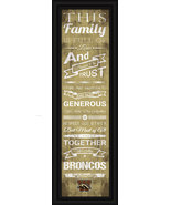 "Western Michigan University - 24 x 8 ""Family Cheer"" Framed Print - $39.95"