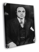 Al Capone Mobster Legend Black & White 40x30 FRAMED CANVAS - $29.95