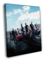 Fast & Furious 6 Cast Movie 40x30 FRAMED CANVAS - $29.95