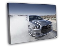 Dodge Charger SRT8 2012 Smoke Burnout 30x20 FRAMED CANVAS - $19.95