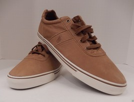 POLO RALPH LAUREN SIZE 16 D LIGHT BROWN TAN LEATHER FASHION SNEAKER SHOE... - $49.49