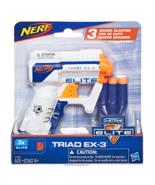 Nerf A1690 N-Strike Elite Triad EX-3 Barrel Blaster with 3 Foam Darts In... - $8.95