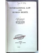 International law and human rights [Hardcover] [Jan 01, 1950] Lauterpach... - $380.92
