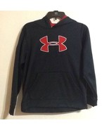 Under Armour Youth Large Black & Red Hstorm Pullover Hoodie - $18.68