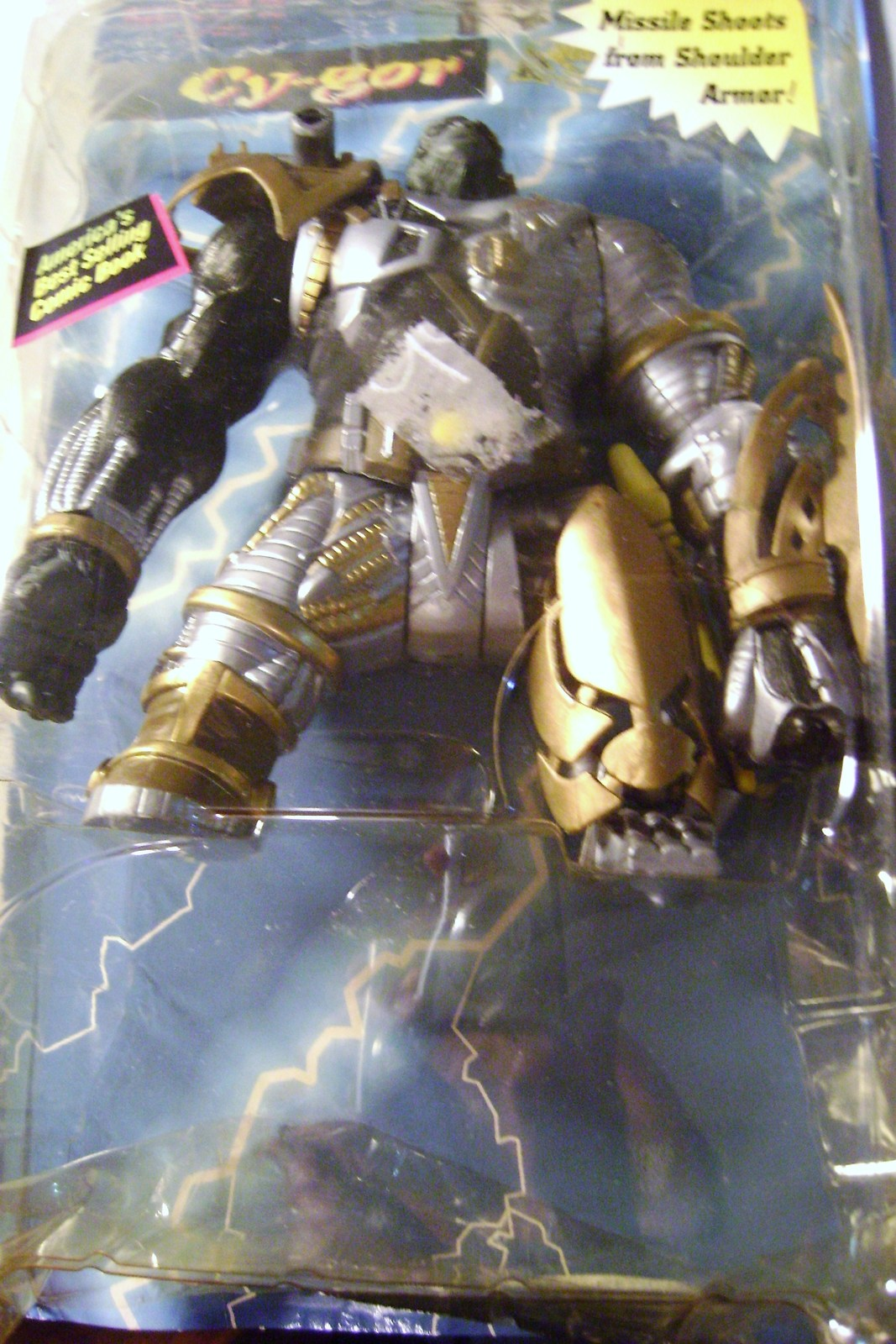 Primary image for  1996 McFarlane Cy-gor Figure with Shoulder Armor Missile