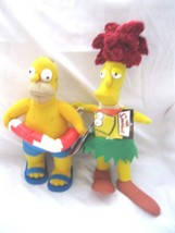 Homer Simpson Wearing Swim Suite&Swimming Tube+Sideshow Bob Soft Stuffed... - $39.59
