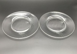 "2 FOSTORIA SALAD PLATE 7-1/2"" CRYSTAL PINE CLEAR GLASS  (4170D) - $12.35"