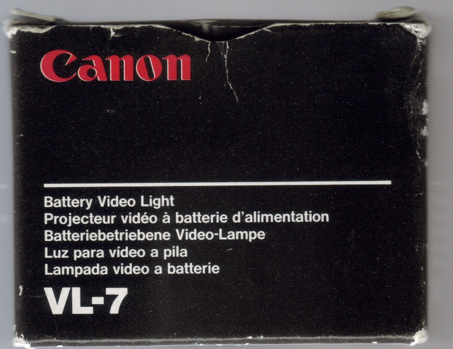 Canon VL-7 Hi8 Camcorder Light and 50 similar items