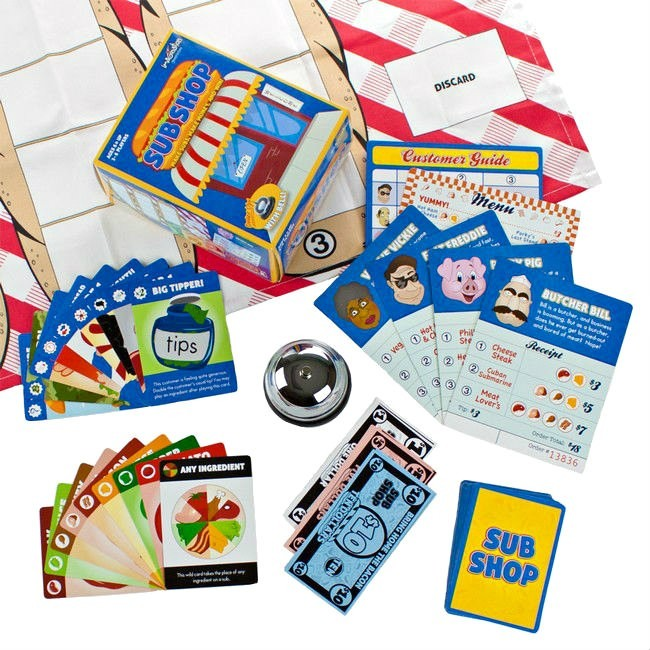 Sub Shop Board Game 2-4 Players Age 6+