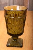 Indiana Glass Company Mt. Vernon Avocado Green ... - $14.01