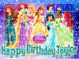 DISNEY PRINCESS : Personalized edible image cake topper 1/4 sheet - $8.78+