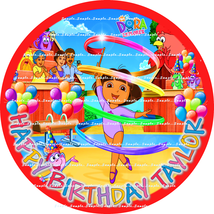 DORA THE EXPLORER: ROUND Personalized edible image cake topper - $8.78+