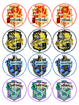 HARRY POTTER 4 HOUSES :  12 edible image cupcak... - $8.78 - $8.78