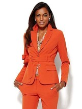 New York & Company 7th Avenue Design Runway Fit Tie-Front Double Stretch... - $30.42