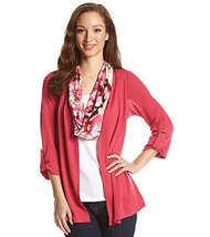 Notations Womens Solid Layered Look Sweater With Scarf Size S - New with... - $16.60