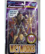 New 1996 McFarlane Frankenstein Figure w/ Wolf Skull Battle Staff Wetwork - $20.00
