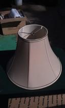 "5SS03 LAMP SHADE, TAN WITH BROWN TRIM, 10"" TALL, 14"" DIAMETER, GOOD COND... - €27,46 EUR"