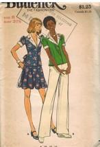 3469 UNCUT Vintage Butterick SEWING Pattern Misses Top Skirt Pants 8 1070's OOP - $4.95