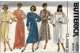 3524 UNCUT Butterick SEWING Pattern Misses Pullover Loose Dress 8 - 12 1980's FF - $4.33