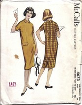 4673 Vintage McCalls Sewing Pattern 1950's Sub Teen Girls Dress Easy 10S... - $9.99
