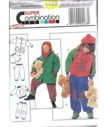 4468 UNCUT Vintage Burda Sewing Pattern Girls Jacket Pants Shorts Sweats... - $4.90