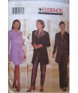 4741 Vintage Butterick SEWING Pattern Miss Jacket Skirt Pants UNCUT Essence NEW - $4.89