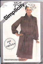 5304 Simplicity Vintage SEWING Pattern Misses Pullover Two Piece Dress UNCUT OOP - $4.33